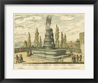 Framed Italian Fountain IV