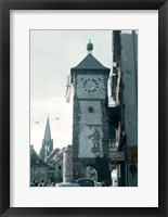 Framed Clock Tower I