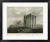 Framed Temple of Jupiter- Olympus, Athens