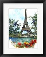 Framed Eiffel Tower - Paris, France