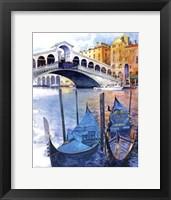 Framed Rialto Bridge - Venice Italy