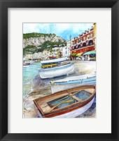 Framed Isle of Capri, Italy