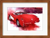 Framed '57 Red Corvette