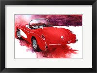 Framed '57 Red Corvette