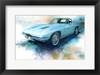 Framed '63 Corvette