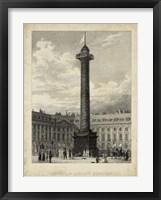 Framed Colonne de la Place Vendome