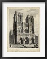 Framed West Front-Notre Dame