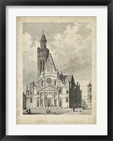 Framed Eglise de St. Etienne-Du-Mont