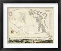 Framed Map of Pompeii