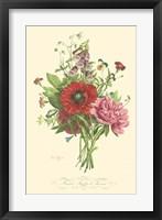 Framed Plentiful Bouquet II