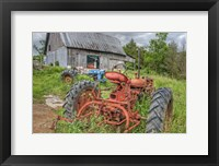 Framed Tractors in Weeds