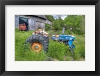 Framed Blue Tractor