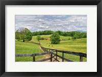 Framed horse farm
