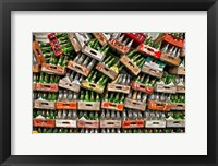 Framed soda pop bottles