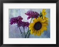 Framed Mums & Sunflowers
