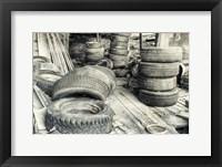 Framed Old Tires BW