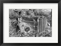 Framed Tow Truck BW