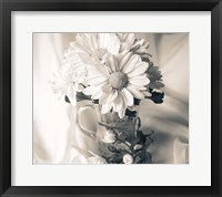 Framed Summer Mums BW