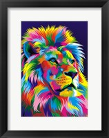 Framed Lion New