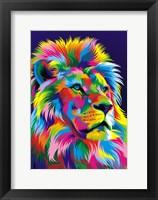 Framed Lion New