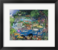 Framed Lagoon #1 Playmates