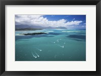 Framed Kaneohe Sailboat Race