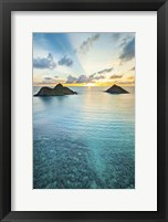 Framed Lanikai Rainbow Sunrise