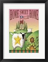 Framed Sheep Home Sweet Home