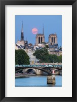 Framed Fullmoon In Notre Dame De Paris