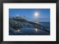 Framed Lighthouse at Night