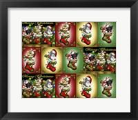 Framed Stocking Kittens Repeat