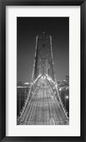 Framed Oakland Bridge 3 BW