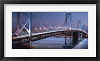 Framed Oakland Bridge 2 Color