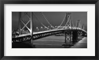 Framed Oakland Bridge 2 BW