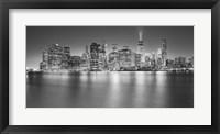 Framed Manhattan Skyline Night 2