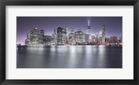Framed Manhattan Skyline Night