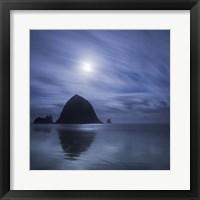 Framed Moon Over Canon Beach