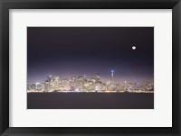 Framed San Fran And Moon