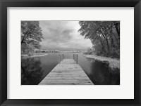 Framed Dock at St. Joseph River, Centreville, Michigan '13-IR