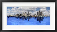 Framed Detroit Day And Night, Detroit, Michigan 07 - Color Pan