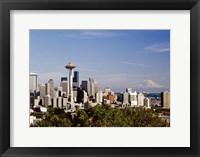 Framed Seattle Cityscape, Seattle, Washington 02 - Color