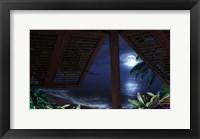 Framed Tropical Dream Moon View