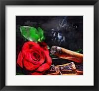 Framed Rose Cigar