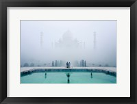 Framed Misty Taj Mahal