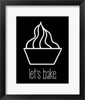 Framed Let's Bake - Dessert V Black