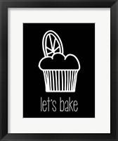 Framed Let's Bake - Dessert IV Black