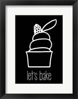 Framed Let's Bake - Dessert III Black