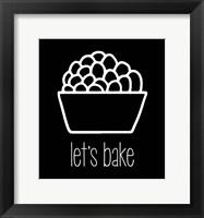 Framed Let's Bake - Dessert II Black