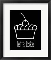 Framed Let's Bake - Dessert I Black