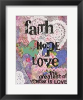 Framed Faith Hope Love